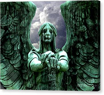 Canvas Print featuring the photograph Angel Warrior by Anne Raczkowski
