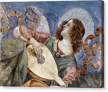 Angel With A Lute Canvas Print by Granger