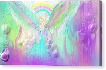 Angel Working Canvas Print by Rosana Ortiz