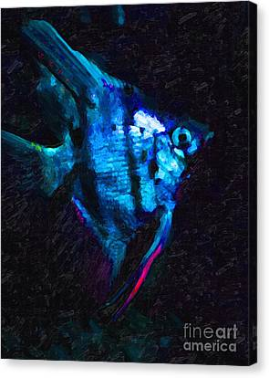 Angelfish Canvas Print by Wingsdomain Art and Photography