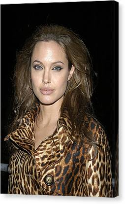 Angelina Jolie At Sharkspeare In The Canvas Print by Everett