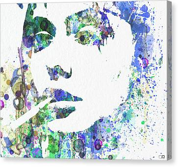 Angelina Jolie Canvas Print by Naxart Studio