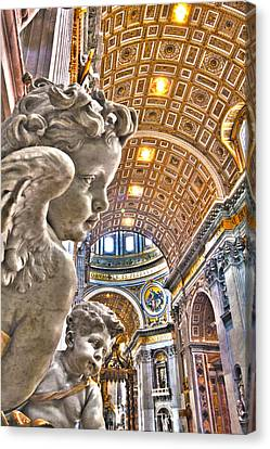 Angels At The Vatican Canvas Print by Michael Yeager