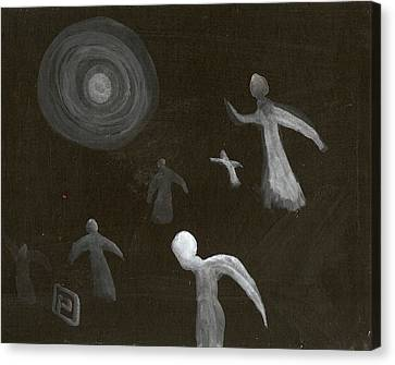 Angels In Flight Canvas Print by Peter  McPartlin