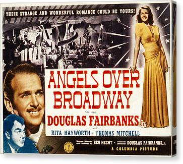 Angels Over Broadway, Thomas Mitchell Canvas Print by Everett