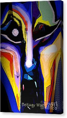 Anger Fcae Canvas Print by Beltagy Beltagyb