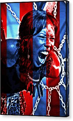 Canvas Print featuring the photograph Anger In Red And Blue by Alice Gipson