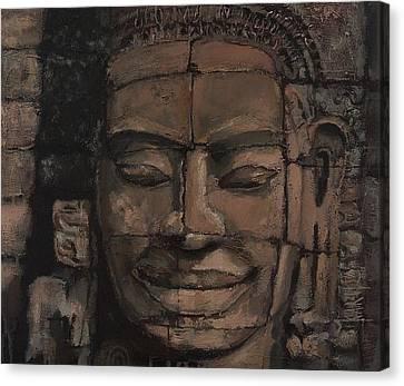Angkor Smile - Angkor Wat Painting Canvas Print by Khairzul MG