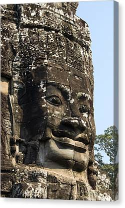 Angkor Thom Fae Canvas Print by Gloria & Richard Maschmeyer
