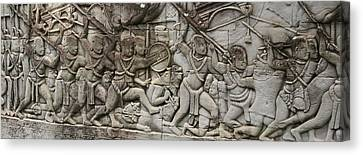 Canvas Print featuring the photograph Angkor Wat - War Scene by Andrei Fried