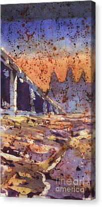 Angkor Wat Sunrise Canvas Print by Ryan Fox