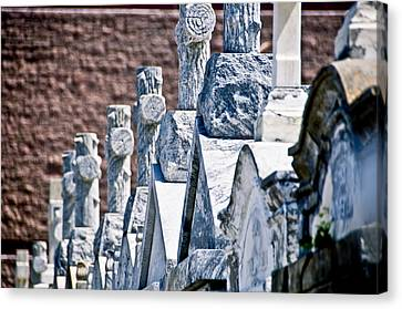 Angled Heahstones Canvas Print by Ray Laskowitz