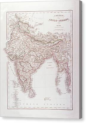Anglo-indian Empire Canvas Print by Fototeca Storica Nazionale