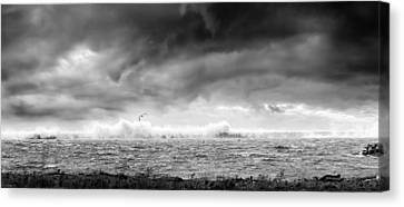 Angry Lake 2 Canvas Print by Peter Chilelli