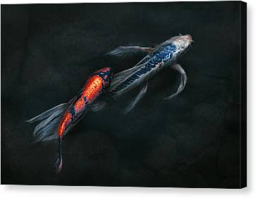 Animal - Fish - Beauty And Grace  Canvas Print by Mike Savad