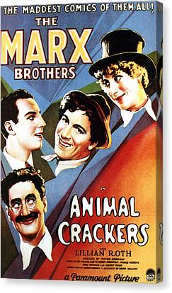 Animal Crackers, From Bottom Left Canvas Print by Everett