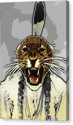 Animal Family 8 Chief Cheeta Canvas Print by Travis Burns