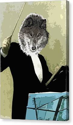 Canvas Print - Animal Family 8 Wolf Composer by Travis Burns