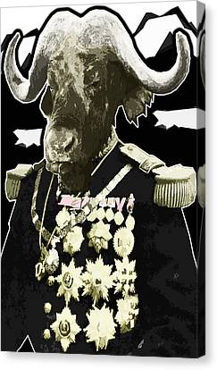 Animal Family 9 General Buffalo Canvas Print by Travis Burns