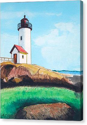 Aninisquam Harbor Light Canvas Print