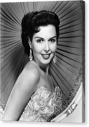 Ann Miller, Ca. Late 1940s Canvas Print by Everett
