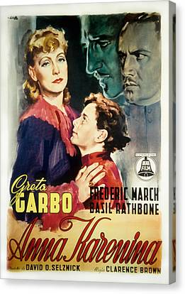 Anna Karenina, Poster Art, Greta Garbo Canvas Print by Everett