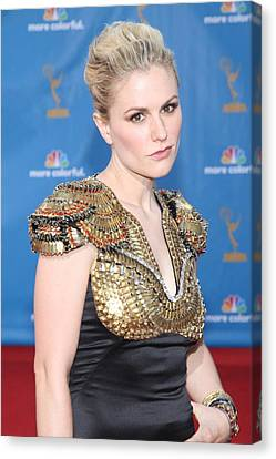 Anna Paquin Wearing An Alexander Canvas Print
