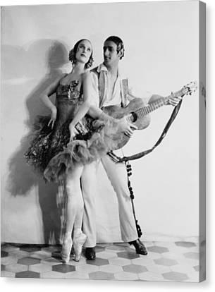 Anna Pavlova 1885-1931 Dancing Partner Canvas Print by Everett