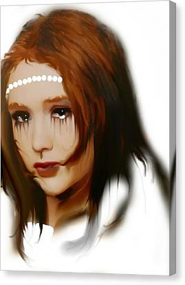 Canvas Print featuring the painting Anna by Susan  Solak