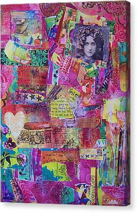 Ephemera Canvas Print - Annabelle Lee by Kanchan Mahon