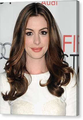 Anne Hathaway At Arrivals For Afi Fest Canvas Print by Everett