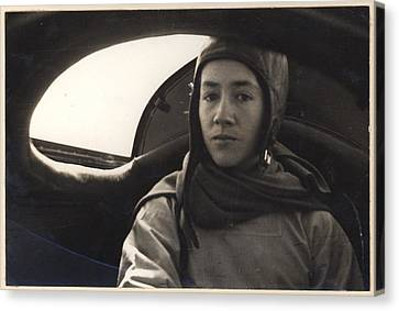 Anne Morrow Lindbergh Inside The Rear Canvas Print by Everett