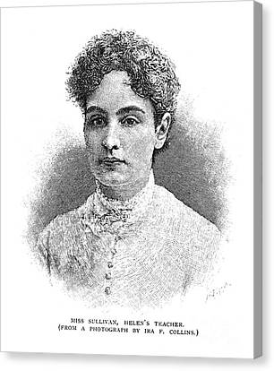 Anne Sullivan Macy Canvas Print by Granger