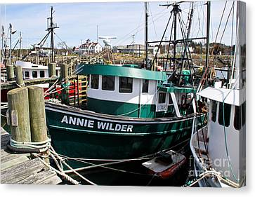 Boats In Water Canvas Print - Annie Wilder by Extrospection Art