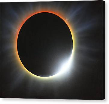 Annular Solar Eclipse, Artwork Canvas Print