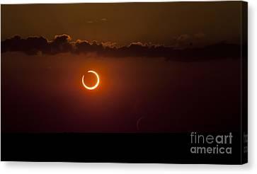 Annular Solar Eclipse Canvas Print by Phillip Jones