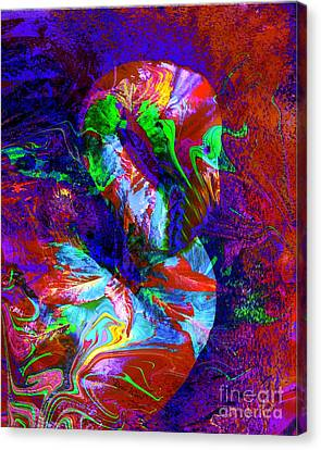 Another Colorful Flamingo Canvas Print by Doris Wood