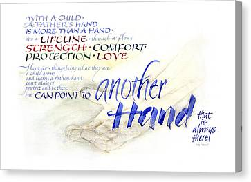 Lifeline Canvas Print - Another Hand by Judy Dodds
