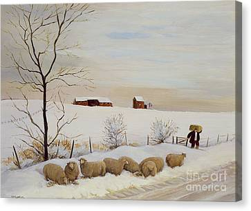 Another Hard Winter Canvas Print by Margaret Loxton