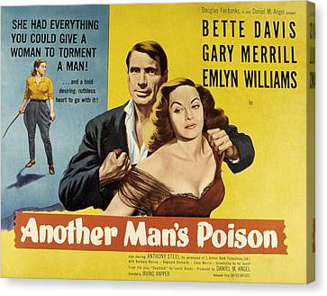 Another Mans Poison, Gary Merrill Canvas Print by Everett
