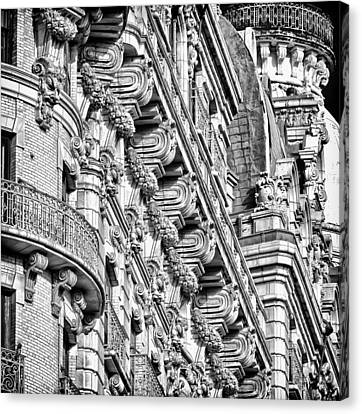 Ansonia Building Detail 10 Canvas Print by Val Black Russian Tourchin