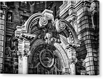 Ansonia Building Detail 2 Canvas Print by Val Black Russian Tourchin