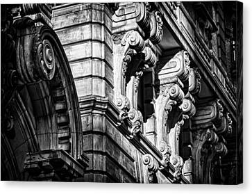 Ansonia Building Detail 8 Canvas Print by Val Black Russian Tourchin