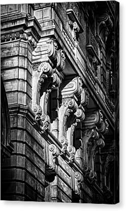Ansonia Building Detail 9 Canvas Print by Val Black Russian Tourchin