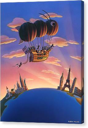 Ant Canvas Print - Ant Airship  by Robin Moline