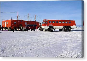 Antarctic Tundra Bus Canvas Print by David Barringhaus