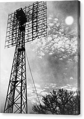 Antenna Tower From Which The First Canvas Print