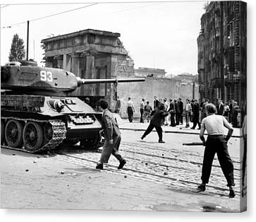 Anti-communist Riots In East Germany Canvas Print by Everett