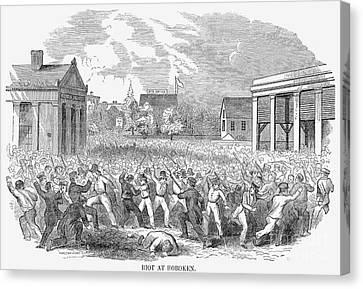 Anti-german Riot, 1851 Canvas Print