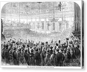 Anti-slavery Meeting, 1863 Canvas Print by Granger